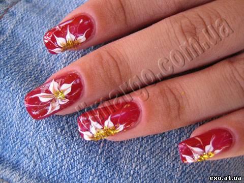 Дизайн ногтей с иголкой видео